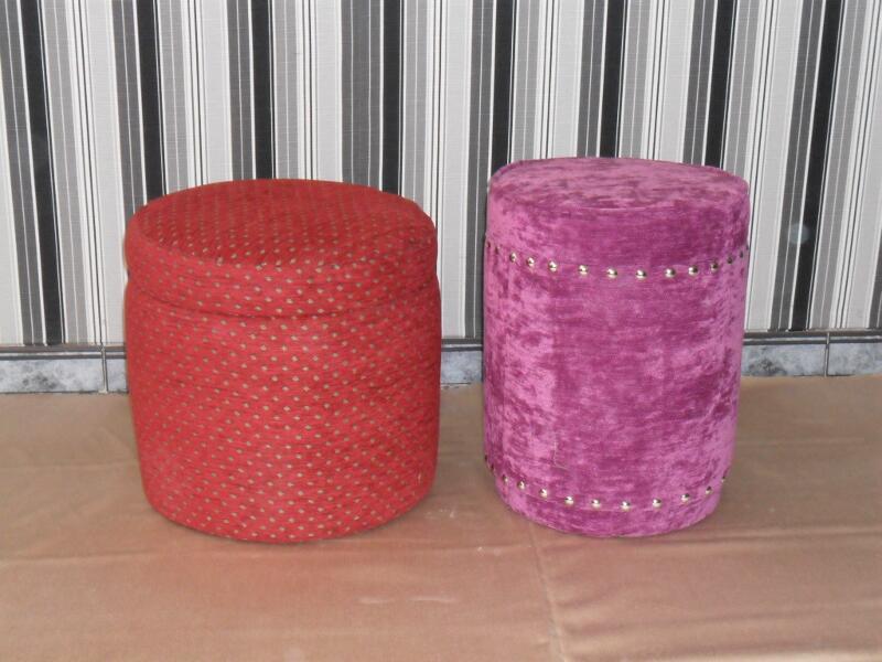 Como tapizar un puff redondo affordable retapizar un puff - Leroy merlin puff ...